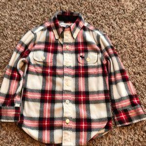 Little boys Abercrombie kids flannel button up